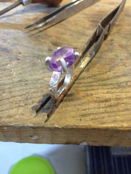 only oe jewelry amethyst ring